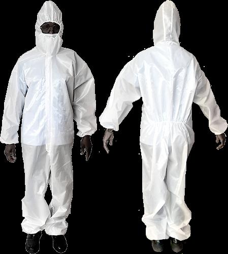 Combinaison de protection pour les professionnels de la décontamination.