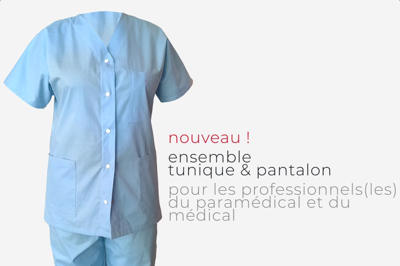 tunique médicale et paramédicale